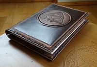 Магический дневник Трикветр, обложка для дневника в стиле Книга Теней, кожаная