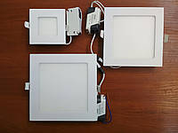 LED панель врезная квадратная 9W 4200K Lezard