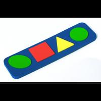 Пазл простые геометрические фигуры