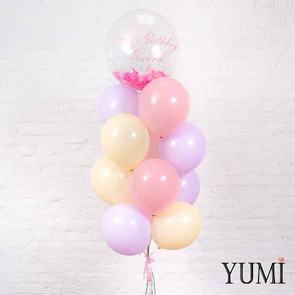 Фонтан из 16 нежных шаров для девочки, фото 2