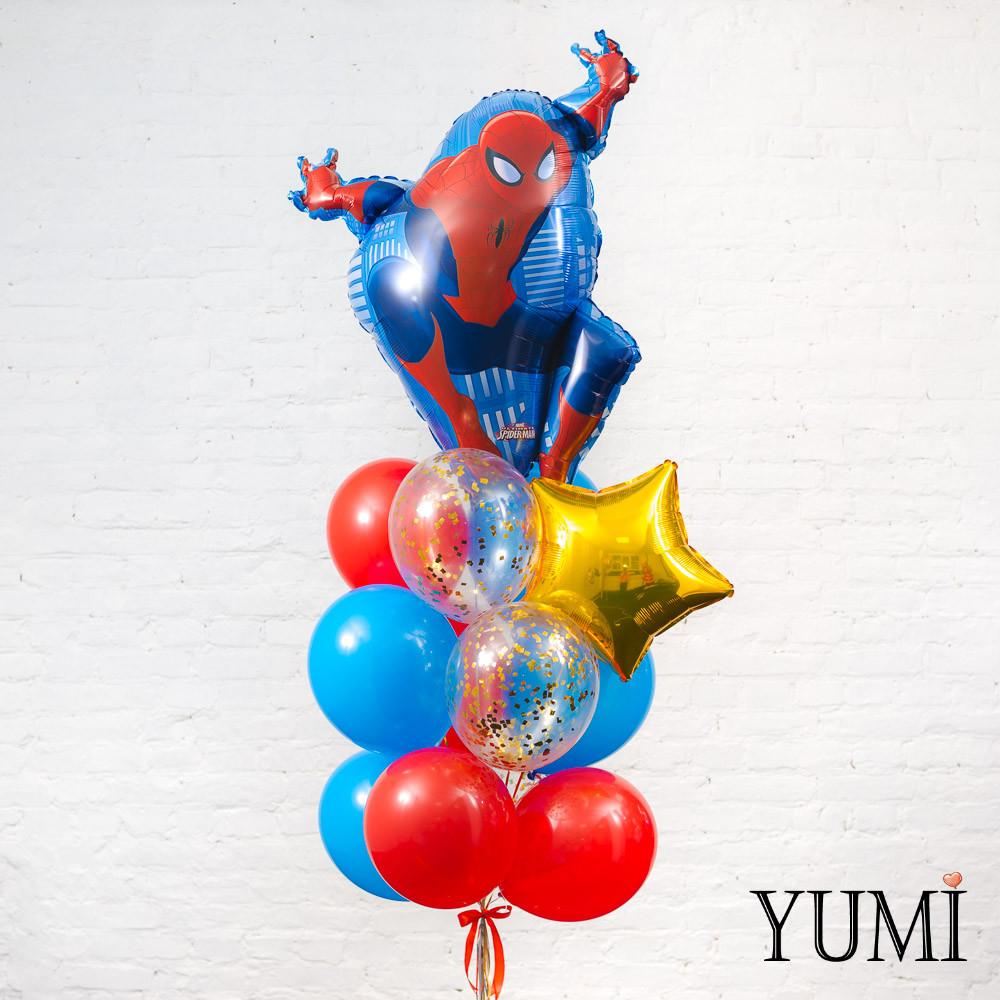 Связка из воздушных шаров для мальчика