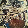 Мебельный велюр ширина ткани 160 см сублимация пикасо
