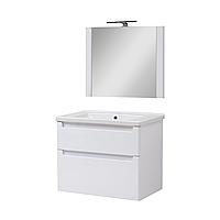 Мини-комплект мебели для ванной комнаты Эльба 70 ТПБ-2 подвесной с зеркалом Юввис