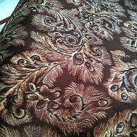 Велюр мебельный ширина ткани 160 см сублимация павлин