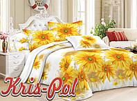 Комплект постельного белья двуспальный жёлтые ромашки 5д недорого