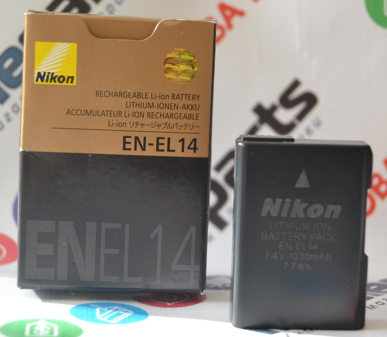 Оригинальный Аккумулятор Nikon EN-EL14 для D3100 D3200 D3300 D5100 D5200 D5300 D5500 P7000 P7100 P7700 P7800