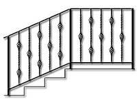 Перила кованные на крыльцо для лестниц на улице  | Цена от производителя на кованные перила для крыльца