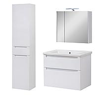 Комплект мебели для ванной комнаты Эльба 70 ТПБ-2 подвесной с зеркальным шкафом Юввис