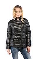 Короткая женская курточка КВ-17 черная