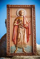 Икона резная из дерева Святой Анатолий