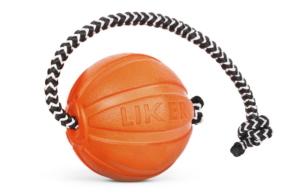 Liker Cord 5 - м'ячик зі шнуром для цуценят і собак дрібних порід
