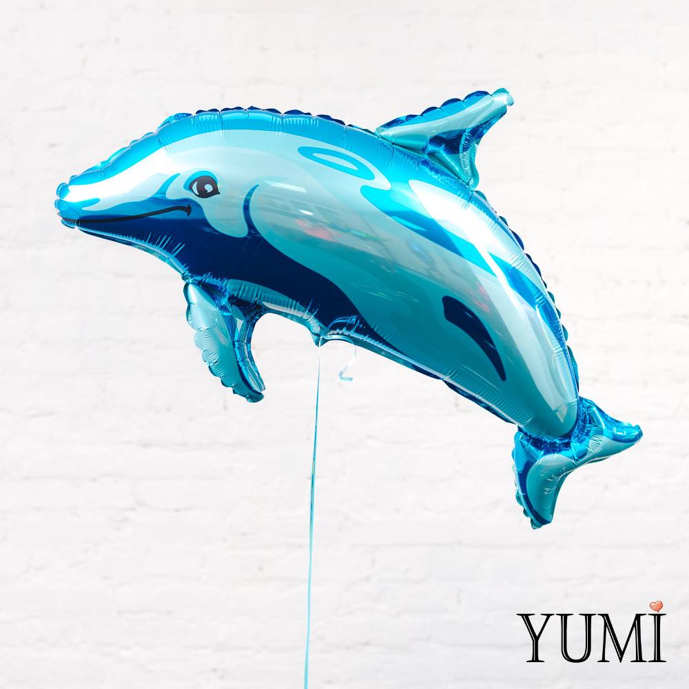Воздушный фольгированный шарик дельфин