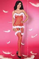 Эротическое сексуальное белье: Catriona Christmas LC Красный, S/L