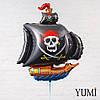 Чёрный пиратский корабль