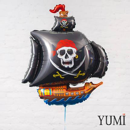 Чёрный пиратский корабль, фото 2