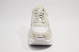 Серебристые кроссовки на платформе Lonza, фото 2