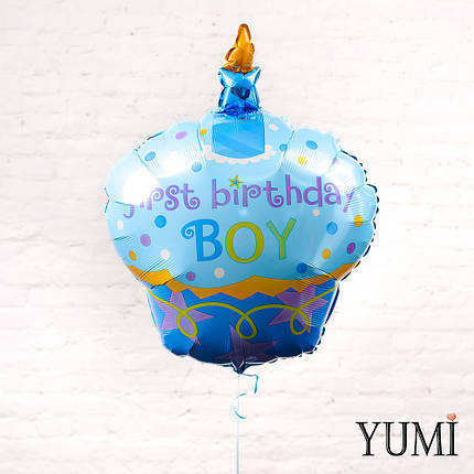 "Кекс голубой ""First b-day Boy"", фото 2"
