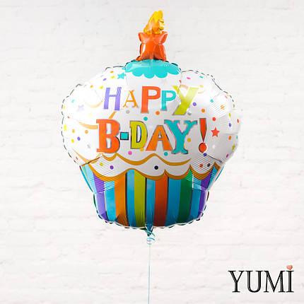 Фольгированный шарик на День Рождения кекс, фото 2
