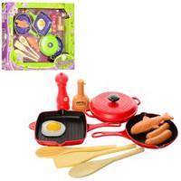 Детская Посуда P8320-P2819 сковородка 2шт,кастрюля,кухон.набор,продукты