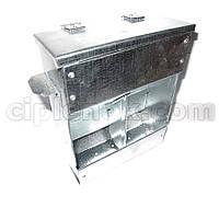 Бункерная кормушка для кроликов 2 отд. с крышкой метал. (БКК-4)