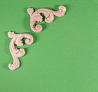 Код ДУ12. Деревянный резной декор для мебели. Декор угловой, фото 1