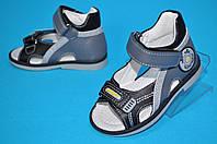 Кожаные ортопедические босоножки для мальчика