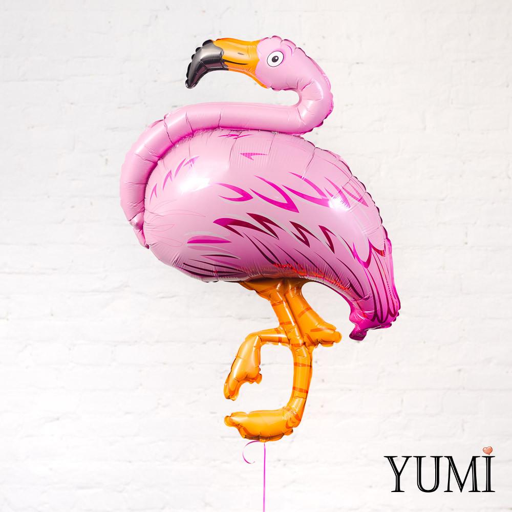 Фольгированный гелиевый шар фламинго