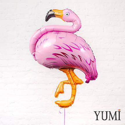 Фольгированный гелиевый шар фламинго, фото 2