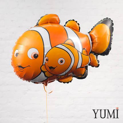 Фольгированный шарик с гелием Рыбка немо. В Поисках Немо, фото 2
