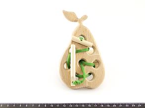 Деревянная игрушка Шнуровка Груша