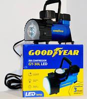 Компрессор Goodyear GY-30L LED 30л/м с фонорем, съёмн.ручкой,сумка для хранен.