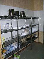 Стеллаж-сушка 1800х350х1700 из нержавейки(4 полки)