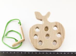 Деревянная игрушка Шнуровка Яблоко
