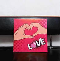 """Холст в стиле поп-арт """"Love"""""""