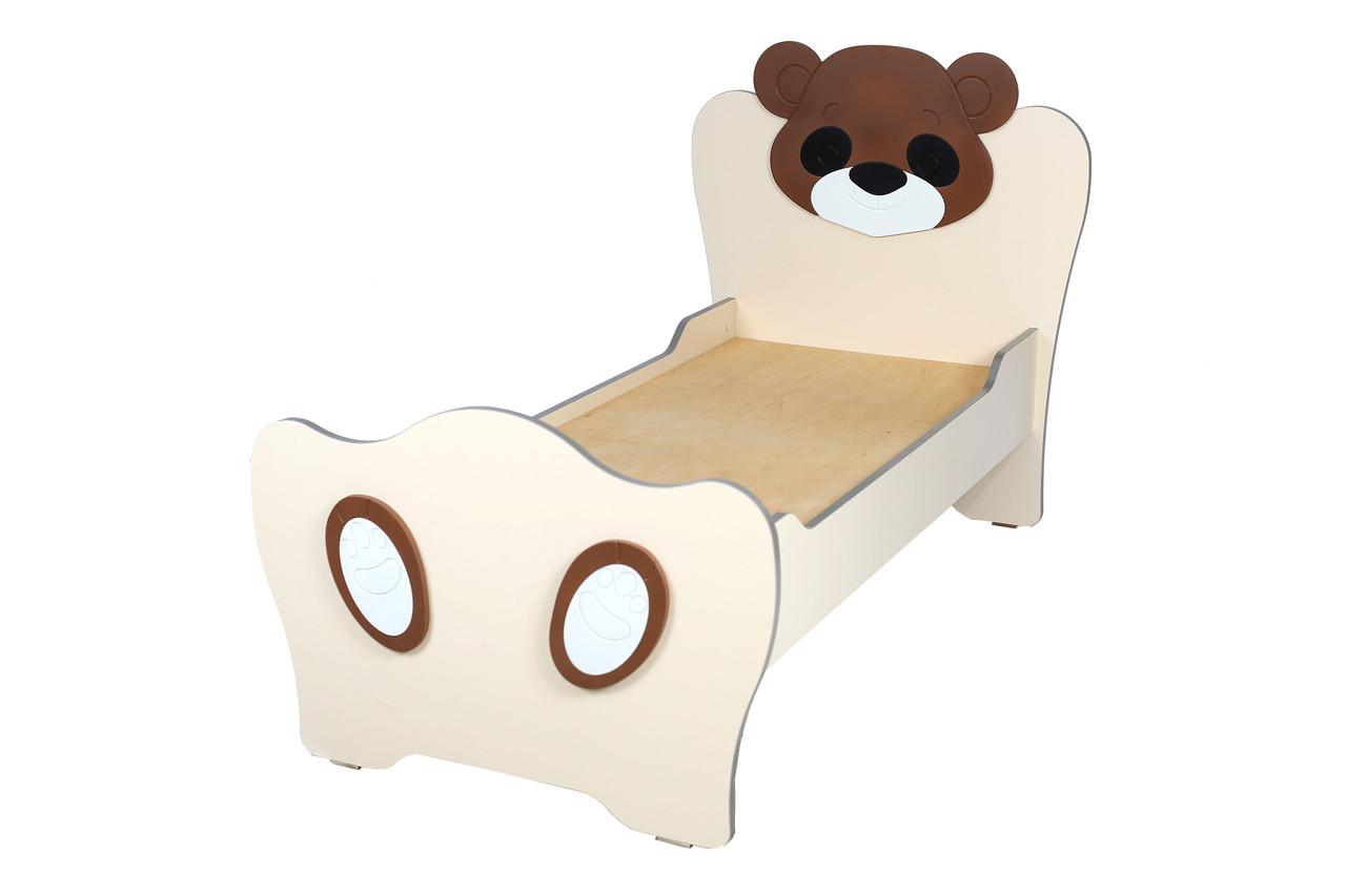 Детская кровать с МДФ накладками Медвежонок (Котенок)