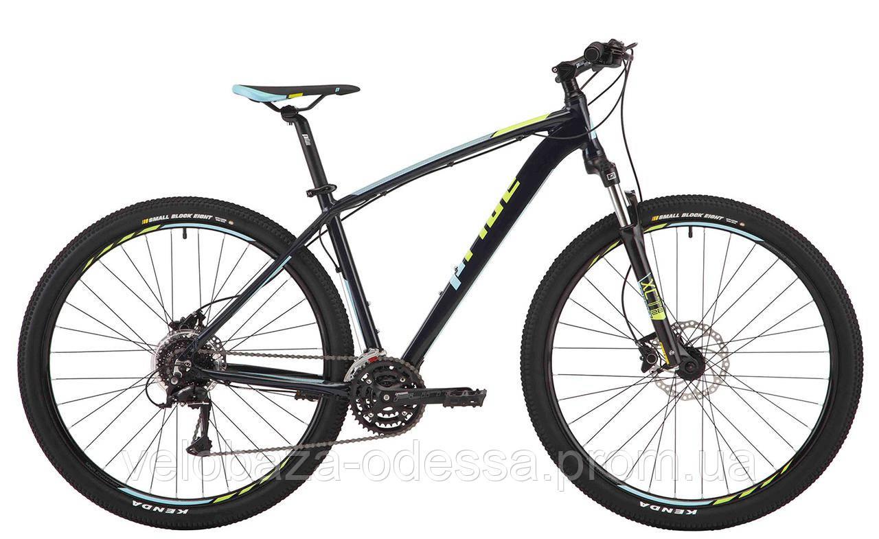 "Велосипед 29"" Pride Rebel 9.3 рама - 21"" тёмно-синий/лайм/голубой 2017"