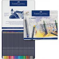 Цветные карандаши Faber Castell GOLDFABER в металлической коробке (24 цв.)
