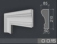 Наличник фасадный из пенопласта 35 плотности армированные акриловым составом