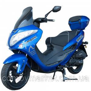 Скутер Spark SP150S-28 (синий, чёрный, красный, белый)