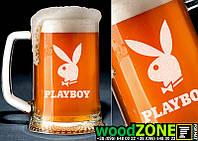 """Пивной бокал 0.5 с именной гравировкой """"Playboy"""""""