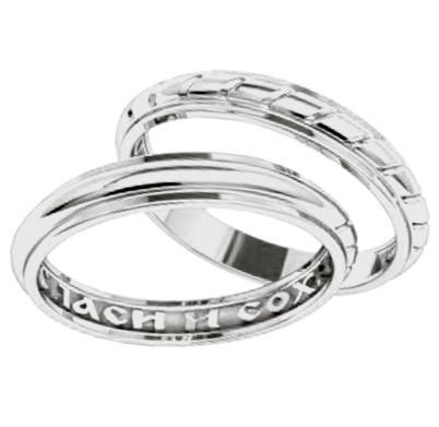 995f2effe18a (Пара) Серебряные обручальные кольца