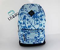 Женский портфель голубой прикольный принт, большой, вместительный на каждый день текстиль водонепроницаемый