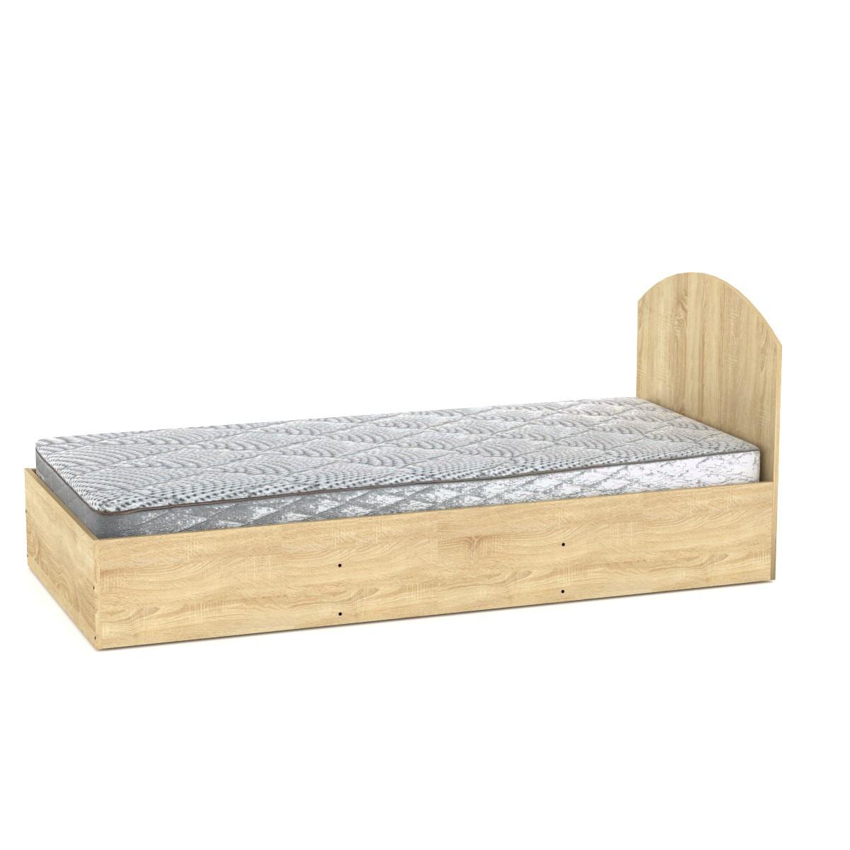 Кровать с матрасом 90 дуб сонома Компанит (94х204х85 см)