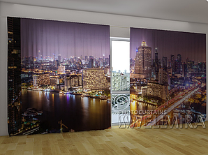 """Панорамные Фото шторы """"Бангкок"""" 270 х 500 см"""