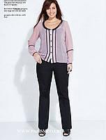 Нежно-розовая шифоновая блуза