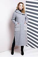 Миди пальто большого размера, фото 1