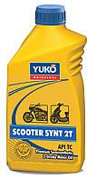 Масло для 2-х тактных бензиновых двигателей. YUKO SCOOTER SYNT 2T (FC) канистра 1л