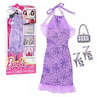 Комплект одежды Барби Игра с модой – Фиолетовое платье с аксессуарами DNV26, фото 2