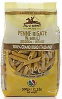 Органические макароны из муки грубого помола penne (твердая пшеница), Alce Nero, 500 гр