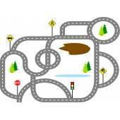 Паркинги, треки, железная дорога